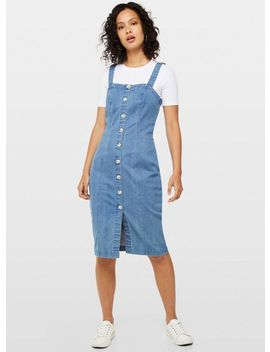 Blue Button Midi Dress by Miss Selfridge