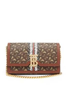 Carrie Coated Canvas & Leather Cross Body Bag by Burberry