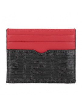 Card Holder Leather Black/Red by Fendi