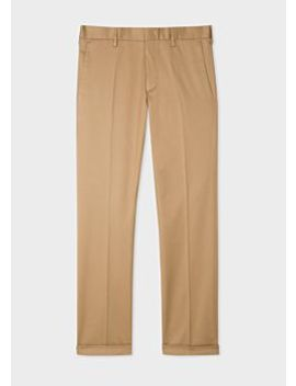 Men's Slim Fit Sand Stretch Cotton Chinos by Paul Smith