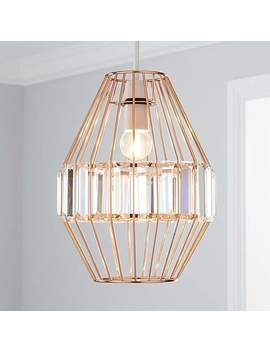 Medan Copper Acrylic Easy Fit Pendant by Dunelm