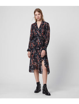 Valero Flutter Dress by Allsaints