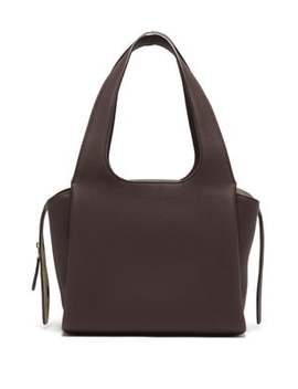 Tr1 Folded Leather Bag by The Row