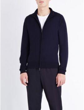 Zipped Merino Wool Cardigan by John Smedley