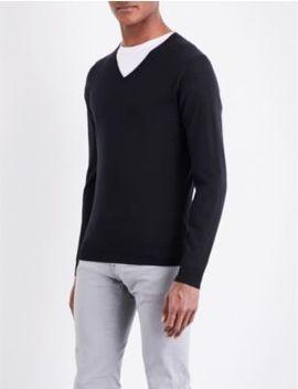 Blenheim V Neck Wool Jumper by John Smedley