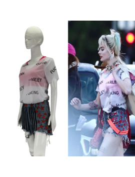 New Cosplay Birds Of Prey Harley Quinn Suicide Squad Costumes Vest Short Pants T Shirt Woman Halloween Costume Party Prop by Ali Express.Com