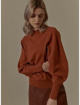 Half Neck Volume Sleeve Knitwear Sk9 Wl017 6 W by Loeuvre