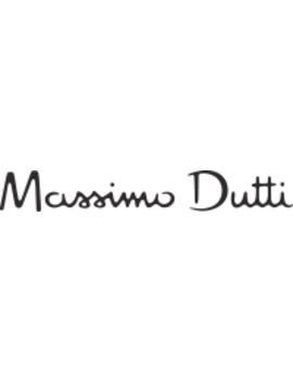 Straight Fit Bundfaltenhose Mit Kleinem FischgrÄtmuster by Massimo Dutti