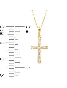 1/10 Ct. T.W. Diamond Cross Pendant In 10 K Gold by Zales