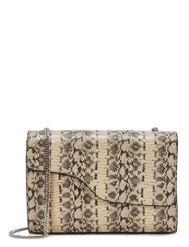 Pomorance Python Effect Leather Shoulder Bag by Atp Atelier