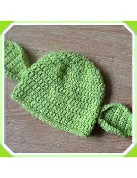 Handmade Crochet Star Wars Inspired Yoda Baby Hat, Baby Gift, Photo Prop by Etsy