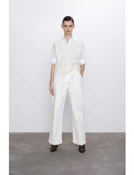 Cable Knit Vest by Zara