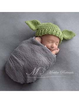 Crochet Yoda Hat | Yoda Costume | Toddler Yoda Hat | Yoda Baby | Star Wars Baby | Yoda Photo Prop  | Star Wars Nursery | Adult Yoda Hat by Etsy