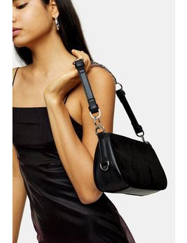 Whirl Black Shoulder Bag With Leather by Topshop