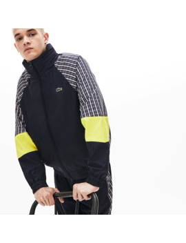 Unisex Live Patchwork Track Jacket by Lacoste