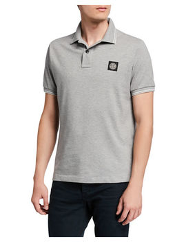 Men's Contrast Tipped Polo Shirt by Stone Island