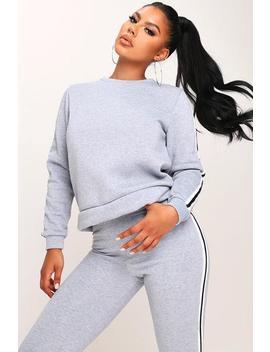 Fleece Side Stripe Sweatshirt by I Saw It First
