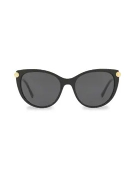 55 Mm Medusa Cat Eye Sunglasses by Versace