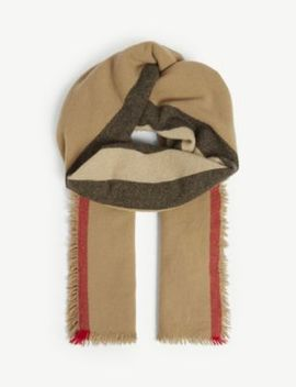 Icon Stripe Wool And Cashmere Scarf by Burberry