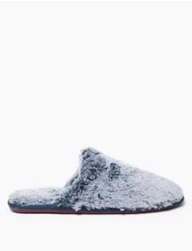 Fluffy Mule Slippers by Marks & Spencer
