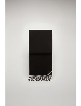 Pilled Wool Scarf Black by Acne Studios