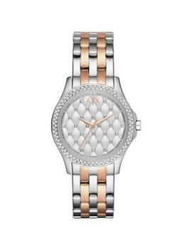 Armani Exchange Ladies Silver And Rose Gold Bracelet Watch882/9960 by Argos