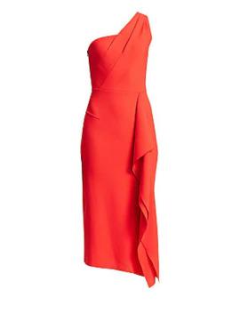 Rivoli One Shoulder Wool Cocktail Dress by Roland Mouret