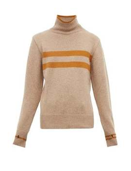 Talbot Striped High Neck Wool Sweater by Oliver Spencer