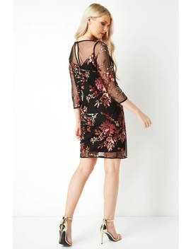 Embroidered Floral Sequin Dress Embroidered Floral Sequin Dress by Roman Originals