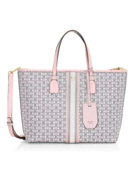 Small Gemini Link Canvas Tote by Tory Burch