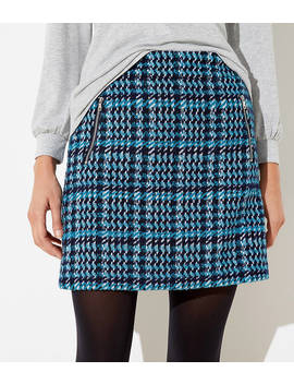 Houndstooth Shift Skirt by Loft