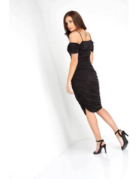 Off The Shoulder Ruched Waist Dress Off The Shoulder Ruched Waist Dress by Roman Originals
