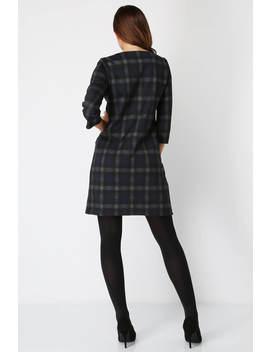 Check Pocket Shift Dress Check Pocket Shift Dress by Roman Originals