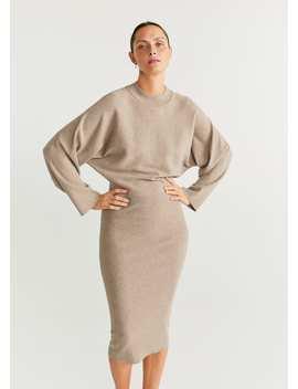 Vestido Combinado Malha by Mango