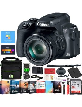 Canon Power Shot Sx70 Hs 20.3 Mp 65x Optical Zoom 4 K Video Digital Camera 3071 C001 Deco Gear Case And Photo Editing Pro Bundle by Canon
