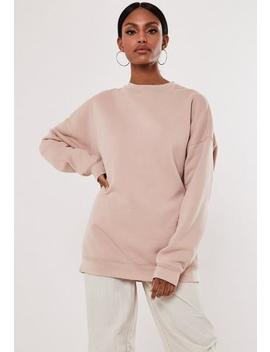 Rose Extreme Oversized Washed Sweatshirt by Missguided