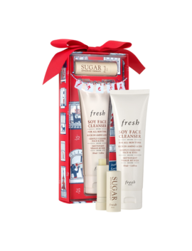 Enchanted Essentials Soy Face Cleanser And Sugar Lip Treatment Gift Set by Fresh