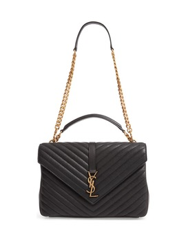 Large College Leather Shoulder Bag by Saint Laurent