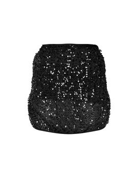 Black Mesh Sequin Mini Skirt by Prettylittlething