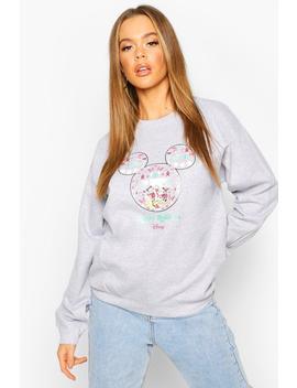 "Disney """"Happy Holidays"""" Christmas Sweatshirt by Boohoo"