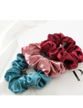 1 Pc Women Elastic Hair Ring Winter Soft Velvet Rubber Bands Hair Bands Girls Sweet Solid Color Hair Accessories Ponytail Holder by Ali Express.Com