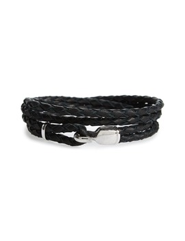 Trice Braided Leather & Sterling Silver Bracelet by Miansai