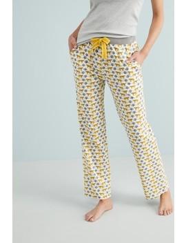Cream Leopard Cotton Pyjama Pants by Next