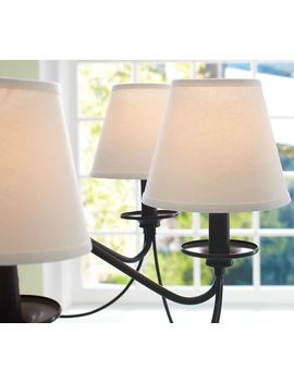 Linen Chandelier Shades, Set Of 3 by Pottery Barn
