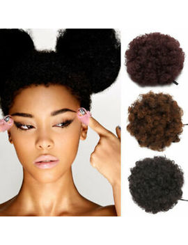 New Real Thick Drawstring Afro Bun Puff Kinky Curly Pony Tail Hair Extensions Uk by Ebay Seller