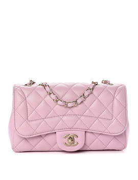 Chanel Lambskin Quilted Mini Mademoiselle Chic Flap Pink by Chanel