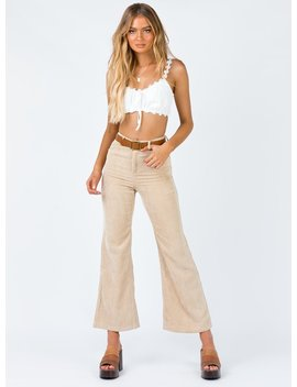 Nessa Pants Beige by Princess Polly