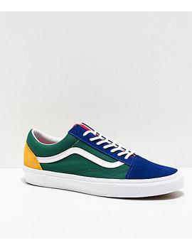 Vans Old Skool Yacht Club Blue, Green, Yellow &Amp; Red Skate Shoes by Vans