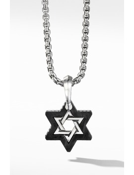 Forged Carbon Star Of David Amulet by David Yurman