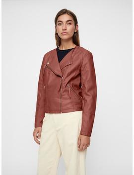 Faux Leather Moto Jacket by Vero Moda
